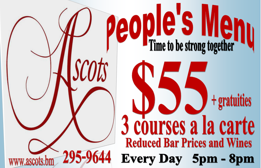Sign People's Menu $55.00 Every Day